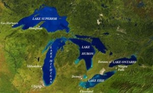 Map of Great Lakes Fishing