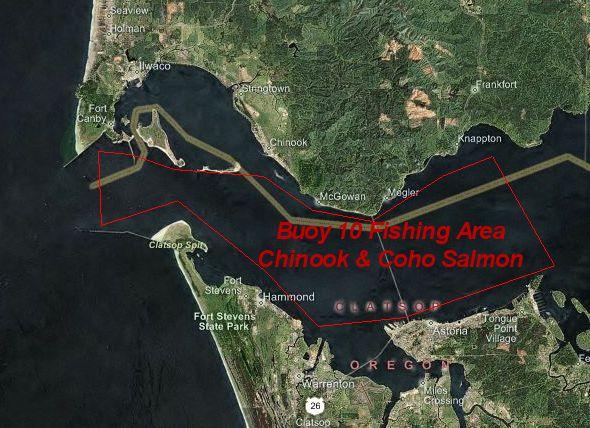 Oregon Coast Buoy 10 Fishing Season