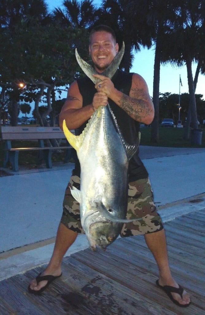 stuart florida fishing charters - 50 lb crevalle jack fish