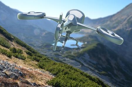 aerial fishing drone