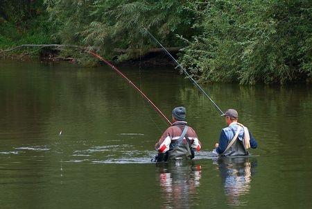 Two Fisherman in Michigan river