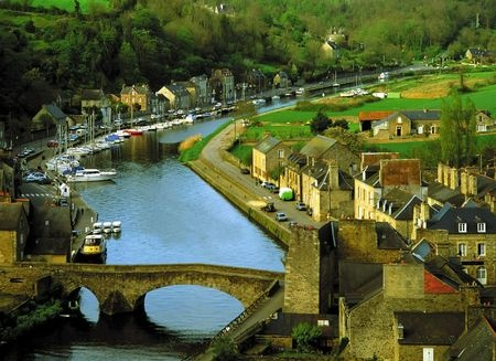 dinan on the rance river brittany france