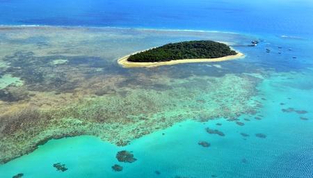 Fishing Great Barrier Reef near Cairns in Queensland, Australia.