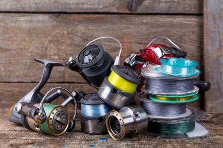 braided and monofilament fishing lines
