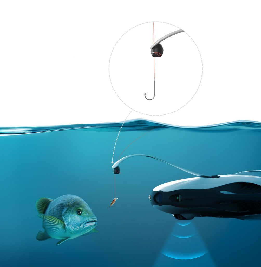 fishing drone with remote bait drop