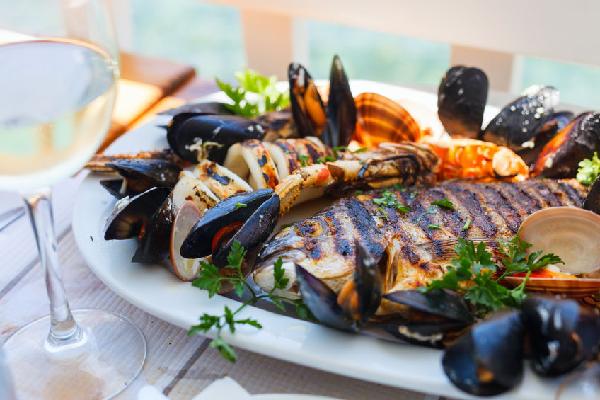 grilled fish platter - seafood recipe