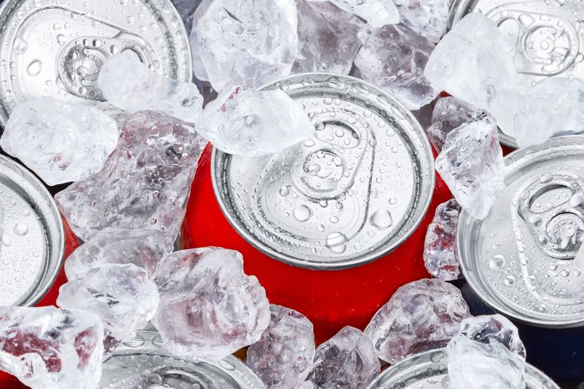 rotomolded ice chest filled with beverages