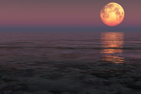 fishing full moon ocean