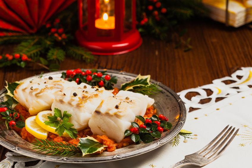 christmas holiday fish & seafood dish