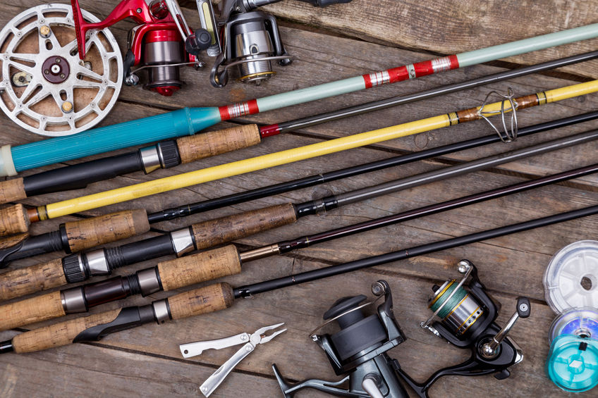 assorted fishing gear for outing