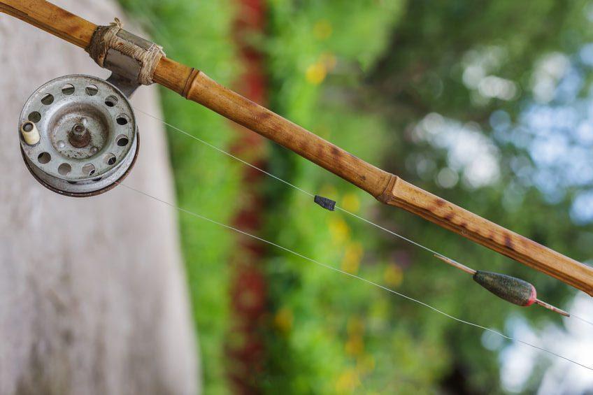 old bamboo fishing rod
