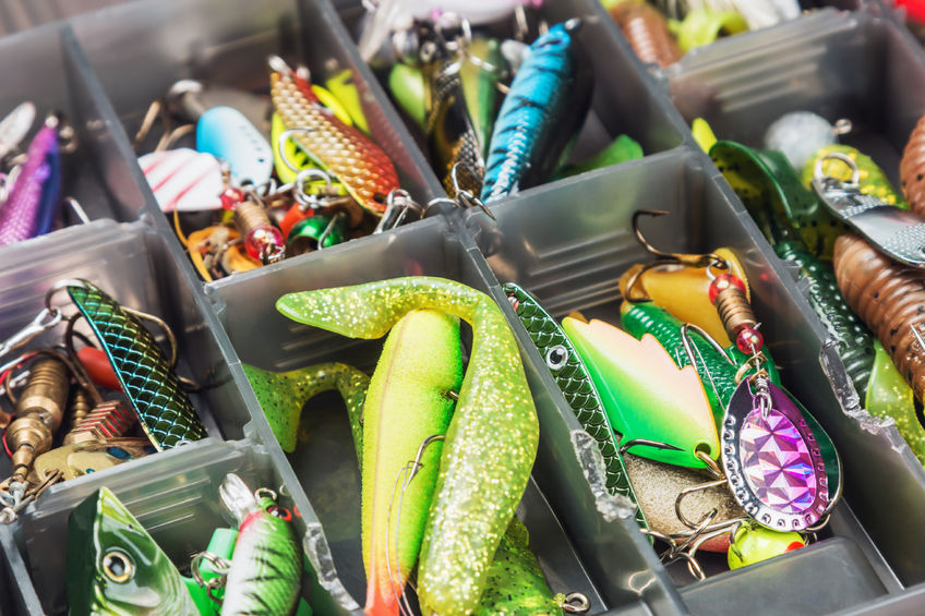 bass fishing hard and soft lures