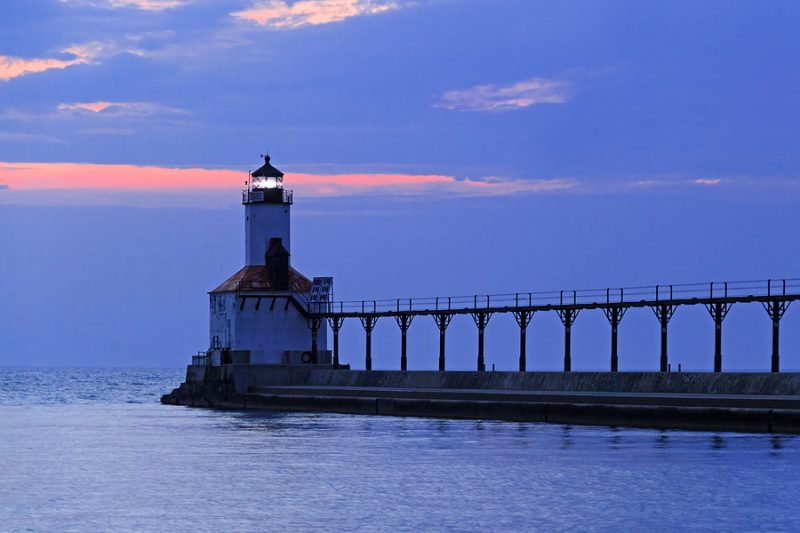 East Pierhead Lighthouse, Michigan City, Indiana