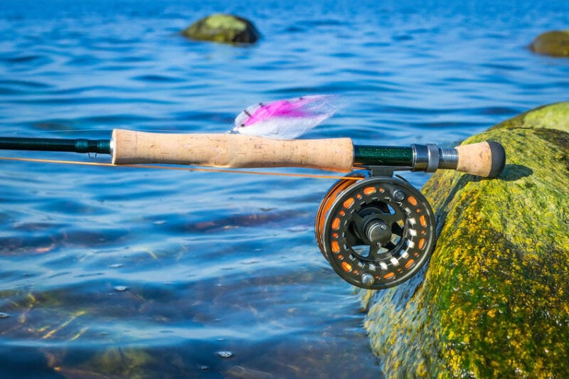 fly reel and rod for saltwater fishing